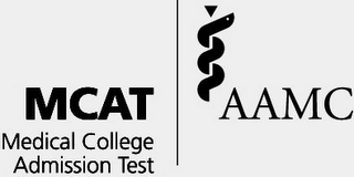 mark for MEDICAL COLLEGE ADMISSION TEST MCAT AAMC, trademark #85320633