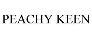 mark for PEACHY KEEN, trademark #85323236