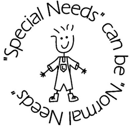 "mark for ""SPECIAL NEEDS"" CAN BE ""NORMAL NEEDS"" L, trademark #85323713"