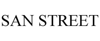 mark for SAN STREET, trademark #85324556