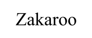 mark for ZAKAROO, trademark #85324749