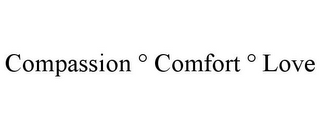 mark for COMPASSION ° COMFORT ° LOVE, trademark #85326326