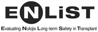 mark for ENLIST EVALUATING NULOJIX LONG-TERM SAFETY IN TRANSPLANT, trademark #85328604
