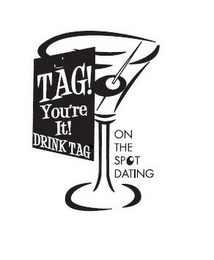 mark for TAG! YOU'RE IT! DRINK TAG ON THE SPOT DATING, trademark #85330790