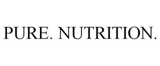mark for PURE. NUTRITION., trademark #85333954