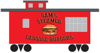 mark for SAM'S STEAMED CABOOSE BURGERS, trademark #85334304