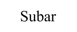 mark for SUBAR, trademark #85335128