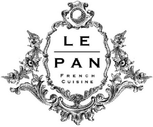 mark for LE PAN FRENCH CUISINE, trademark #85335573