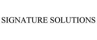 mark for SIGNATURE SOLUTIONS, trademark #85335757