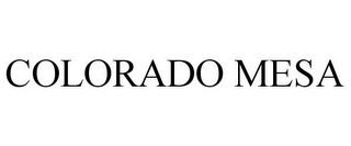 mark for COLORADO MESA, trademark #85337190