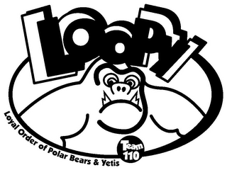 mark for LOOPY LOYAL ORDER OF POLAR BEARS & YETIS, trademark #85338139
