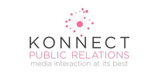 mark for KONNECT PUBLIC RELATIONS MEDIA INTERACTIONS AT ITS BEST, trademark #85339192