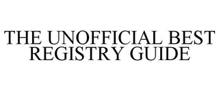 mark for THE UNOFFICIAL BEST REGISTRY GUIDE, trademark #85340366