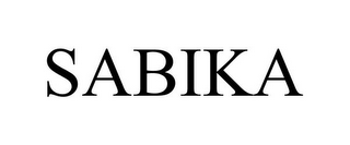 mark for SABIKA, trademark #85343359