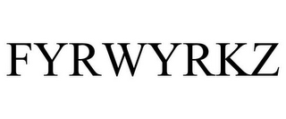 mark for FYRWYRKZ, trademark #85343377