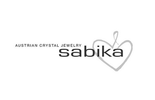 mark for AUSTRIAN CRYSTAL JEWELRY SABIKA, trademark #85343406