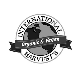 mark for INTERNATIONAL HARVEST'S ORGANIC & VEGAN, trademark #85344594