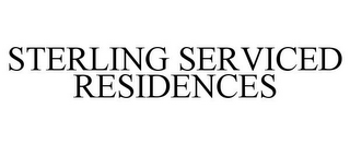 mark for STERLING SERVICED RESIDENCES, trademark #85346101