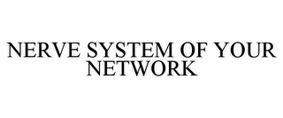 mark for NERVE SYSTEM OF YOUR NETWORK, trademark #85346342