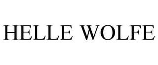 mark for HELLE WOLFE, trademark #85347290