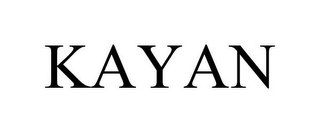 mark for KAYAN, trademark #85347654