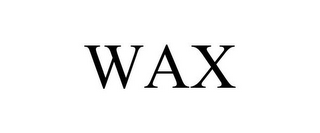 mark for WAX, trademark #85348596