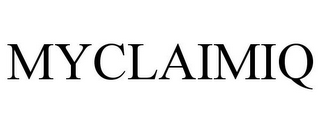 mark for MYCLAIMIQ, trademark #85349381