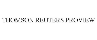 mark for THOMSON REUTERS PROVIEW, trademark #85350138