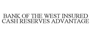 mark for BANK OF THE WEST INSURED CASH RESERVES ADVANTAGE, trademark #85351925