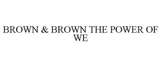 mark for BROWN & BROWN THE POWER OF WE, trademark #85353115
