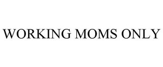 mark for WORKING MOMS ONLY, trademark #85353995