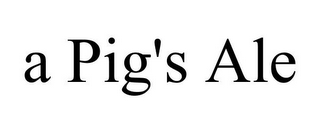 mark for A PIG'S ALE, trademark #85354507