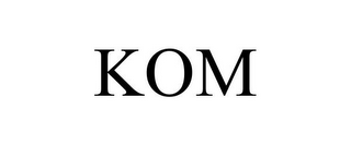 mark for KOM, trademark #85356568