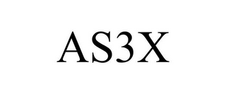 mark for AS3X, trademark #85360702