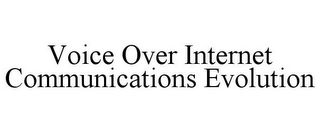 mark for VOICE OVER INTERNET COMMUNICATIONS EVOLUTION, trademark #85363079
