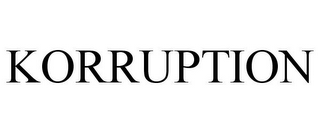mark for KORRUPTION, trademark #85363296