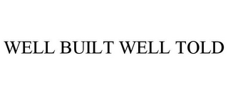mark for WELL BUILT WELL TOLD, trademark #85365818