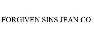 mark for FORGIVEN SINS JEAN CO., trademark #85366236
