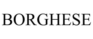 mark for BORGHESE, trademark #85366294