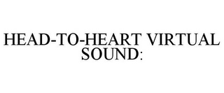 mark for HEAD-TO-HEART VIRTUAL SOUND:, trademark #85366698