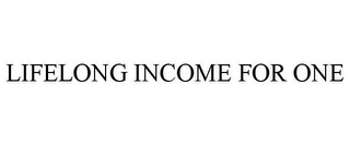 mark for LIFELONG INCOME FOR ONE, trademark #85368363