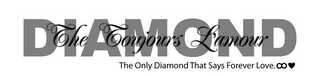 mark for THE TOUJOURS L'AMOUR DIAMOND THE ONLY DIAMOND THAT SAYS FOREVER LOVE., trademark #85368777
