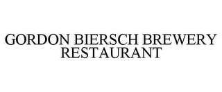 mark for GORDON BIERSCH BREWERY RESTAURANT, trademark #85369415