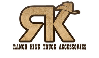 mark for RK RANCH KING TRUCK ACCESSORIES, trademark #85371399