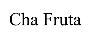 mark for CHA FRUTA, trademark #85371843
