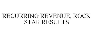 mark for RECURRING REVENUE, ROCK STAR RESULTS, trademark #85372646