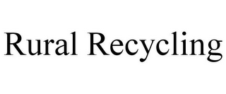 mark for RURAL RECYCLING, trademark #85373931