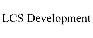 mark for LCS DEVELOPMENT, trademark #85377323