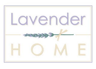 mark for LAVENDER HOME, trademark #85378416