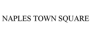 mark for NAPLES TOWN SQUARE, trademark #85379050